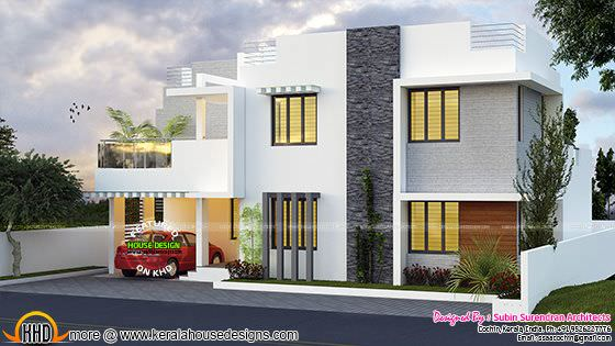 2593 square feet 4 bedroom flat roof home