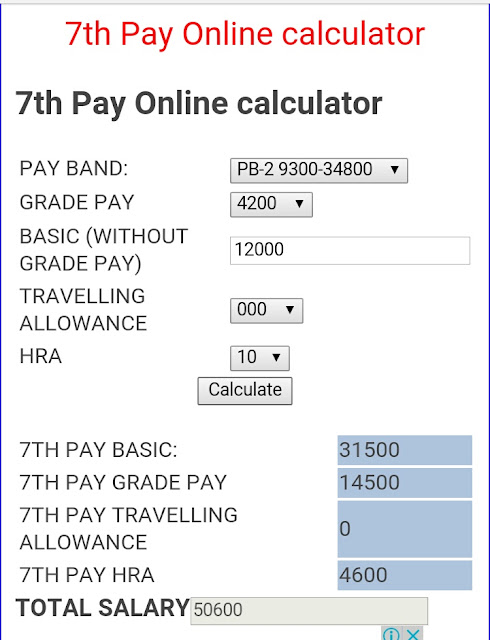 Online calculator 7th pay commission : Forex day trading rules