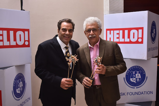 Actors Dharmendra and Naseeruddin Shah  at URJA Awards 2017 in association with Hello!