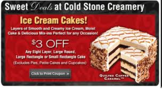 Cold stone creamery cake printable coupons 2018