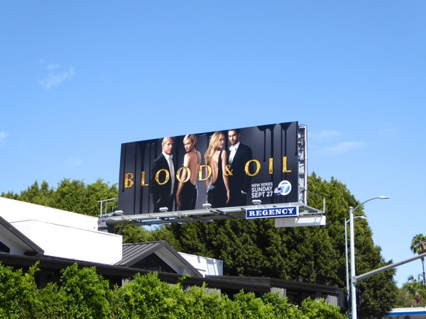 Blood & Oil season 1 billboard