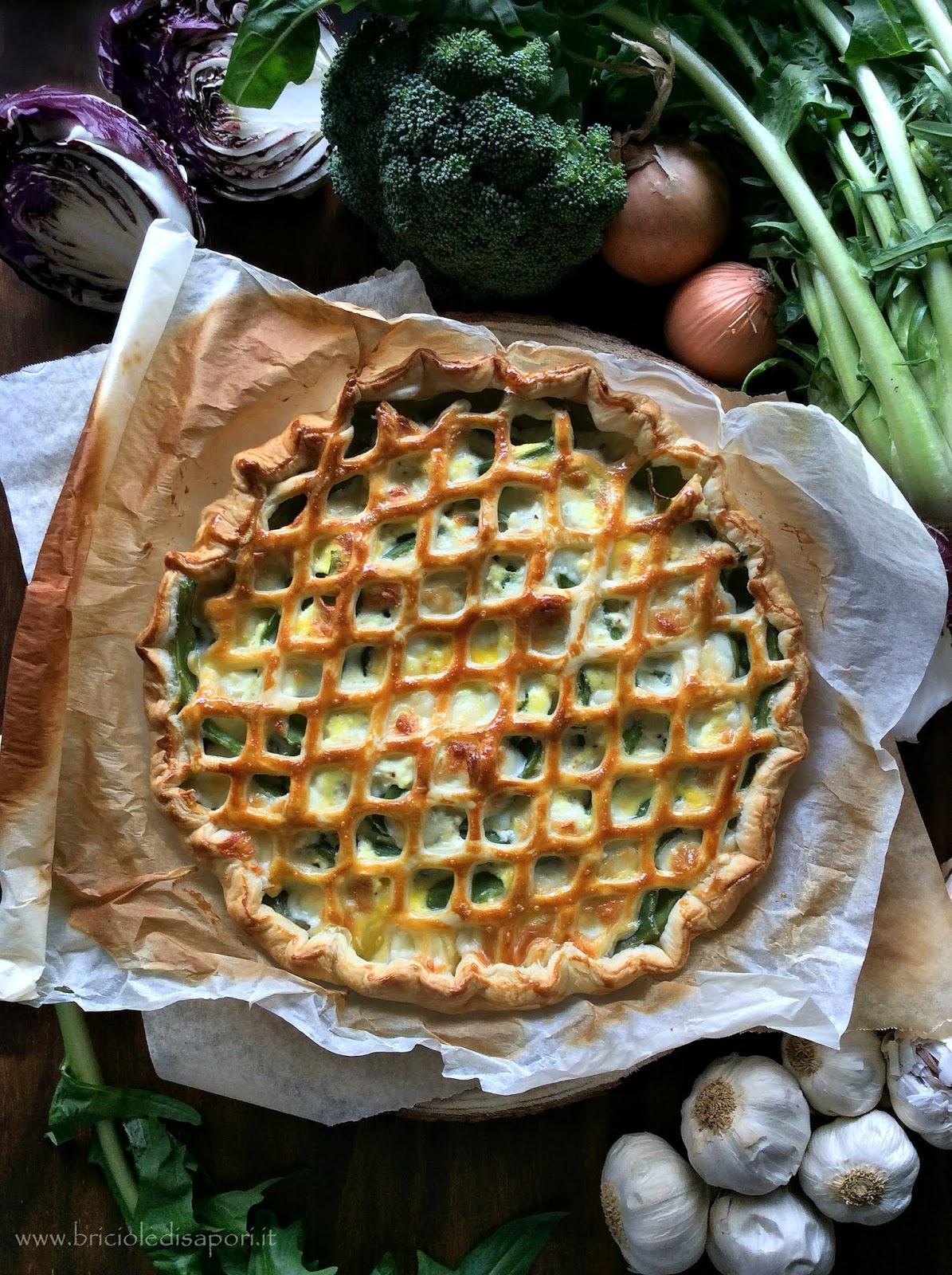 torta salata con piattoni prosciutto scamorza dolce e crema di ricotta