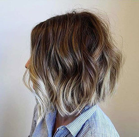 ombre short hair blonde