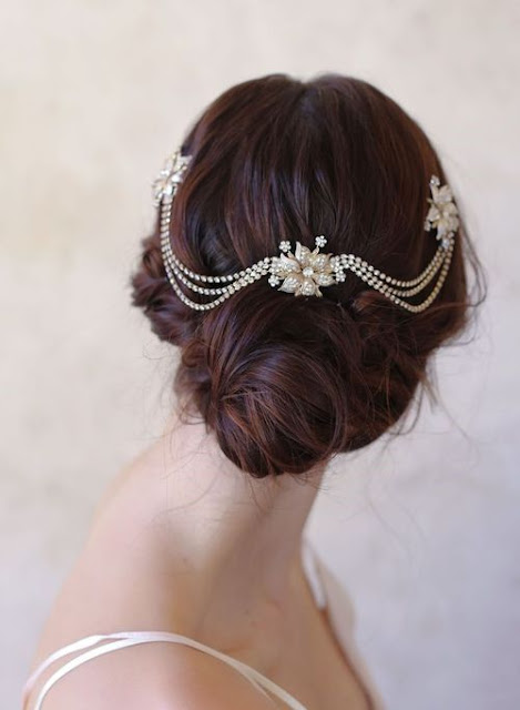 bridal hair swag | Twigs and Honey