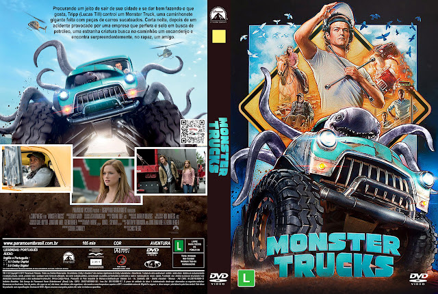 Capa DVD Monster Trucks [Exclusiva]