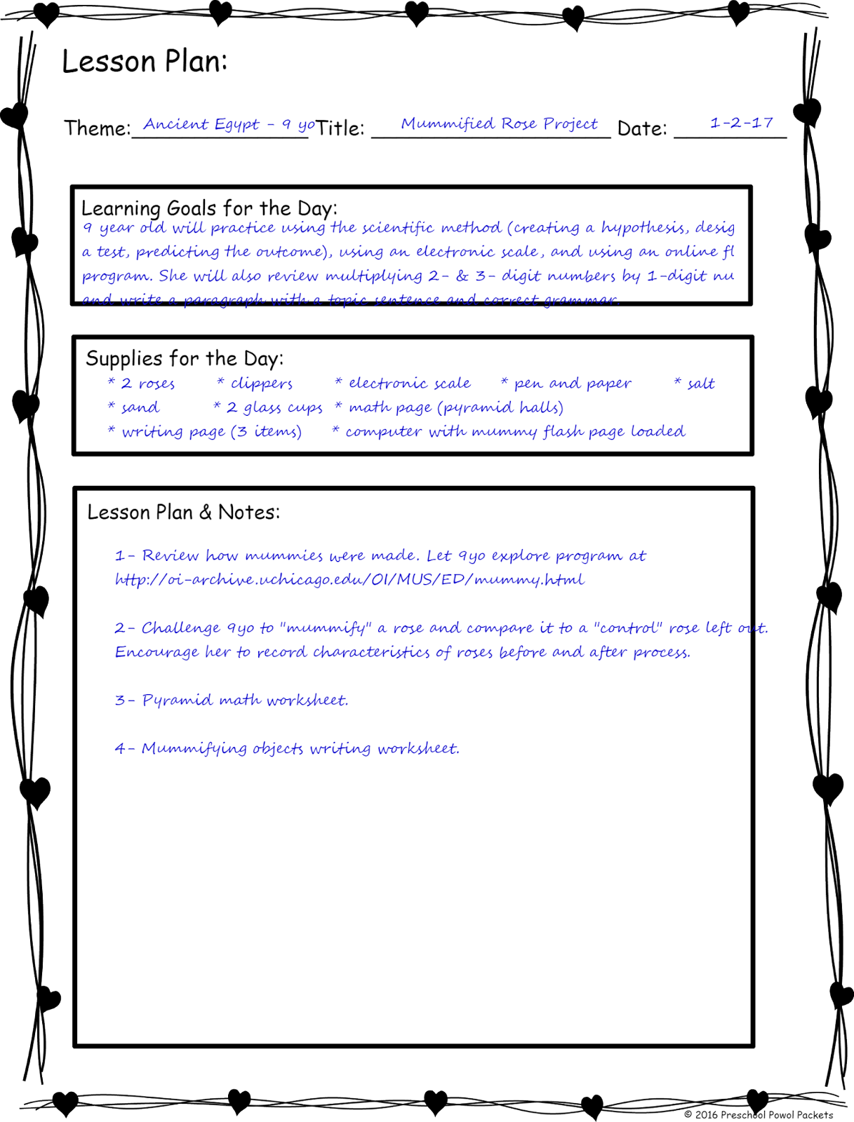 two year old lesson plan template - how to design a stem homeschool curriculum preschool