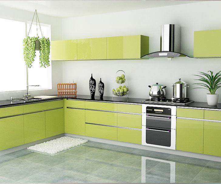 50 Desain Dapur Minimalis Cantik Berwarna Hijau Bergaya
