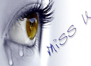 miss you image with eye full of tears