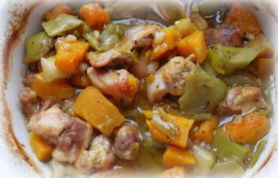 Chicken with Leeks & Butternut Squash