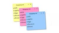 Scrivere Post-it sul desktop del PC per appunti o promemoria attaccati allo schermo