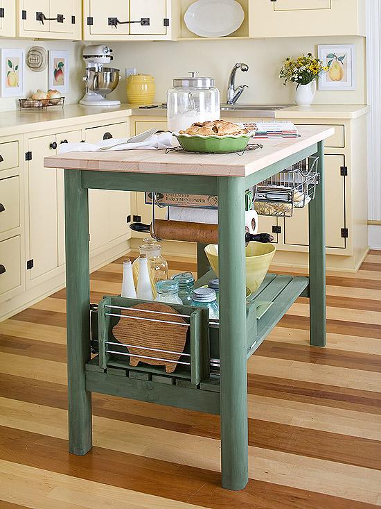 New home interior design kitchen island storage ideas - Small kitchen island with storage ...