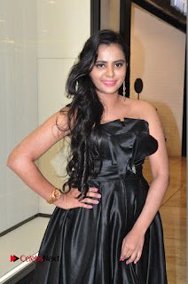 Actress Manasa Himavarsha Pictures in Black Short Dress at The Great Hydrerabad Life Style EXPO II  0012.JPG