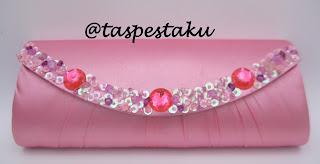 Tas pesta mewah pink ayu cantik simple elegant