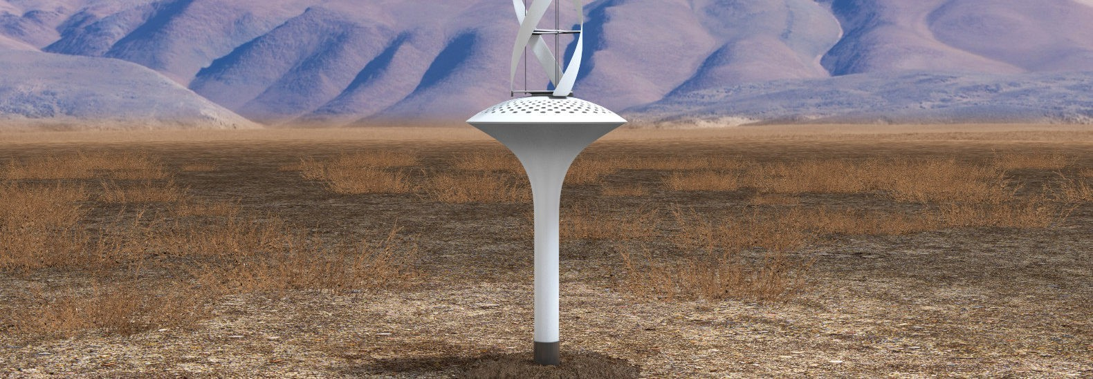 This wind powered water condenser can pull 11 gallons of clean water out of air each day for drinking