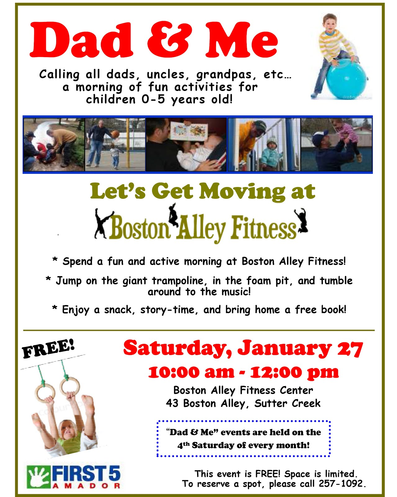 Dad & Me: Let's Get Moving at Boston Alley Fitness - Sat Jan 27