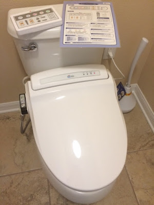 Photo of new toilet my husband installed while I was running errands