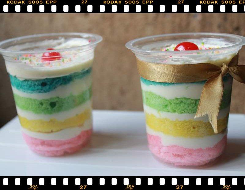 Dapur Kue Najwa: Rainbow Cake In Jar