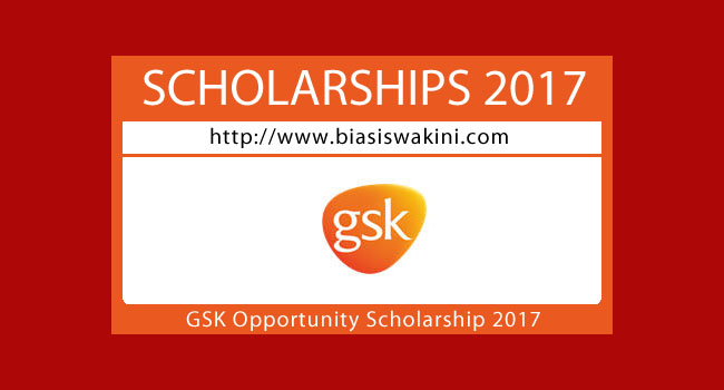 GSK Opportunity Scholarship 2017