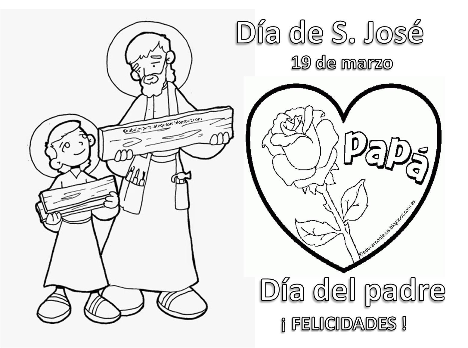 Educar con Jesús: 19 de marzo Día de S. José - Día del padre