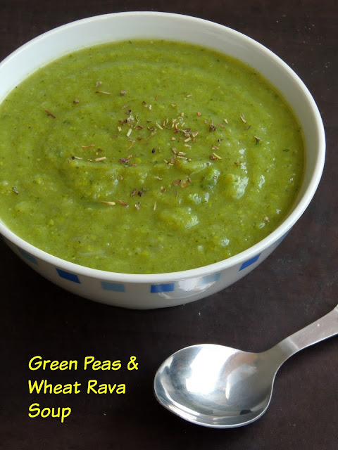Green peas & Wheat rava soup