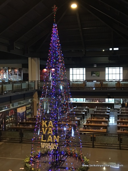 Christmas tree at Kavalan Whisky distillery in Yilan, Taiwan