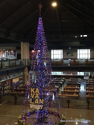 Christmas tree at Kavalan Whisky distillery in Yilan, Taiwan