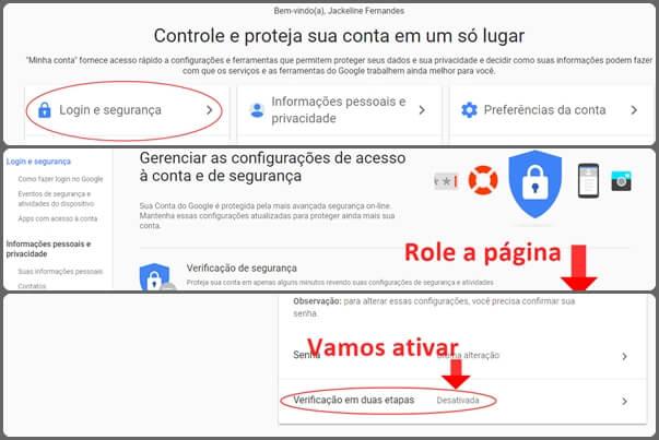 Como fazer a verificação em duas etapas da Google?