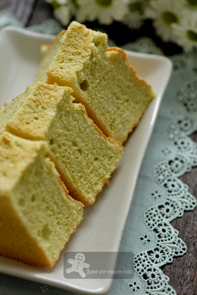 light soft pandan chiffon cake