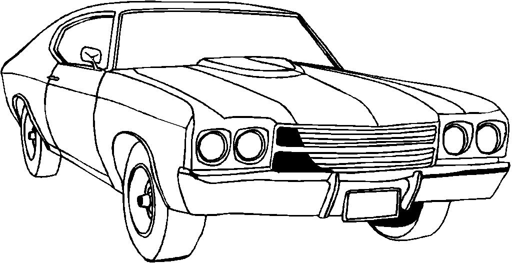 Los dibujos para colorear : Dibujos de coches y carros