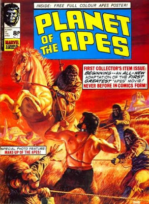 Planet of the Apes, Marvel Comics UK weekly, #1, cover