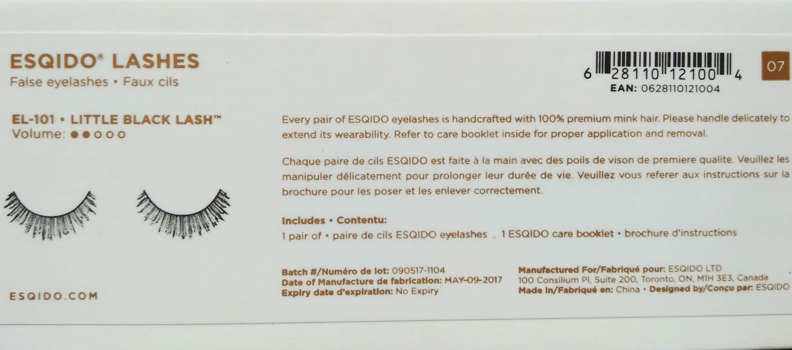 bde629f3291 Review of ESQIDO False Eyelashes #Little Black Lash and Companion ...