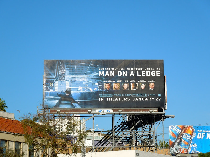 Man on a Ledge film billboard