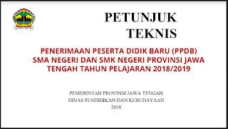 Bahan Soaialisasi PPDB Online Jawa Tengah Tahun 2018