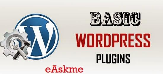 Basic Wordpress Plugins for WordPress Blog: eAskme