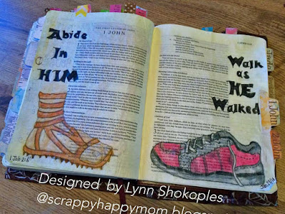 1John 2:6 Bible Journal Page by Lynn Shokoples