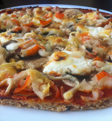 Pizza de avena light