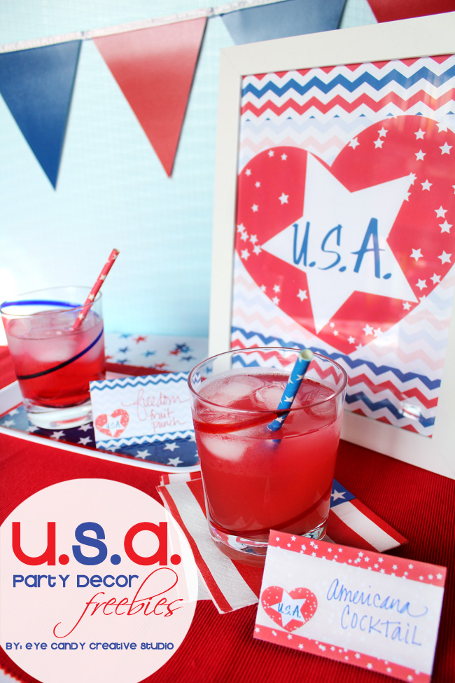 USA freebies, USA party decor freebies, free america download