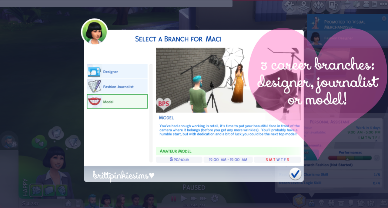 My Sims 4 Blog: Updated - The Sims 4: Fashion Career Mod by