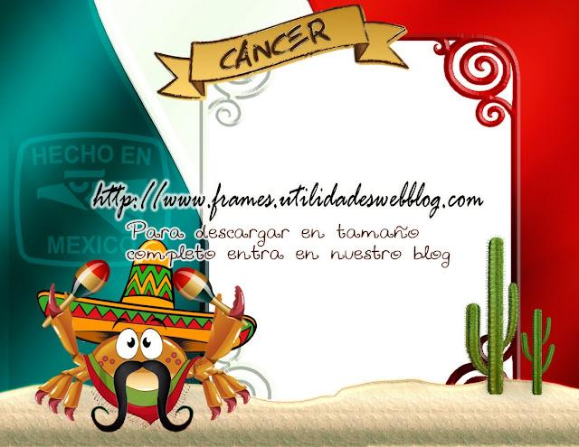 marco para fotos de cancer, marco para fotos bandera de mexico
