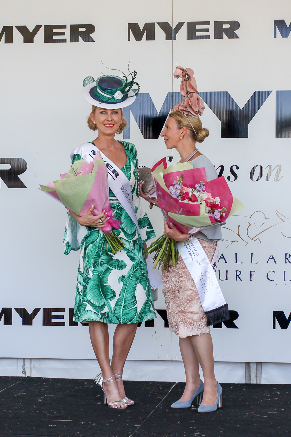 Ballarat Cup Fashions on the field Runner Up Amanda Macor and Milliner winner