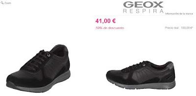 zapatillas piel color negro de la marca Geox