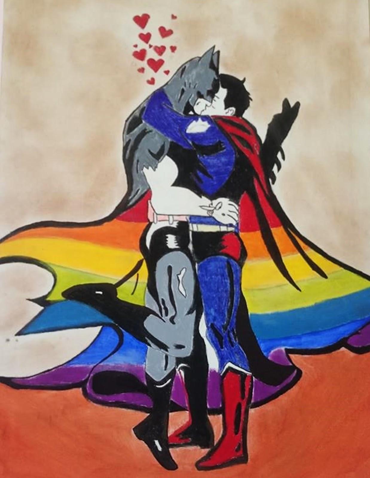 Desenho com beijo de super-heróis vira alvo de homofobia em exposição de MG