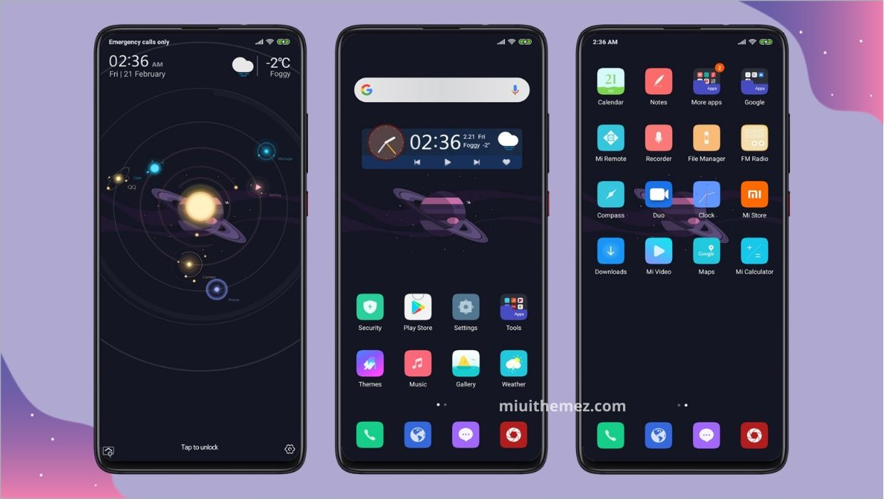 Space And Dark (Universe) MIUI Theme