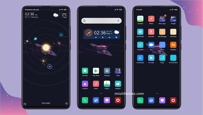 Space And Dark (Universe) MIUI Theme | Amazing Dark Theme for Xiaomi Devices