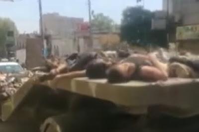 Mayat 50 Pejuang Suriah di Pertontonkan Oleh Komunis Kurdi