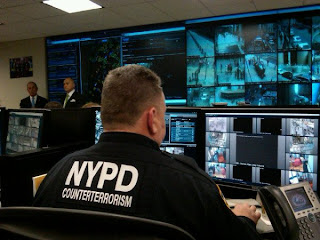 NYPD shows off its camera surveillance system used for counterterrorism.