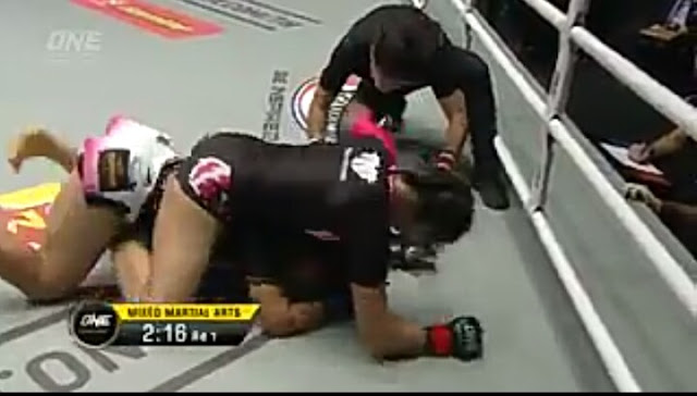 Rika Ishige def. Bozhena Antoniyar by TKO (ground & pound) 2:48 R1