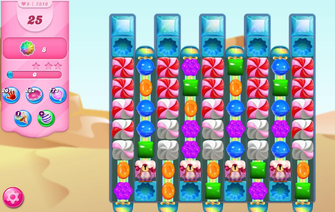 Candy Crush Saga level 7316