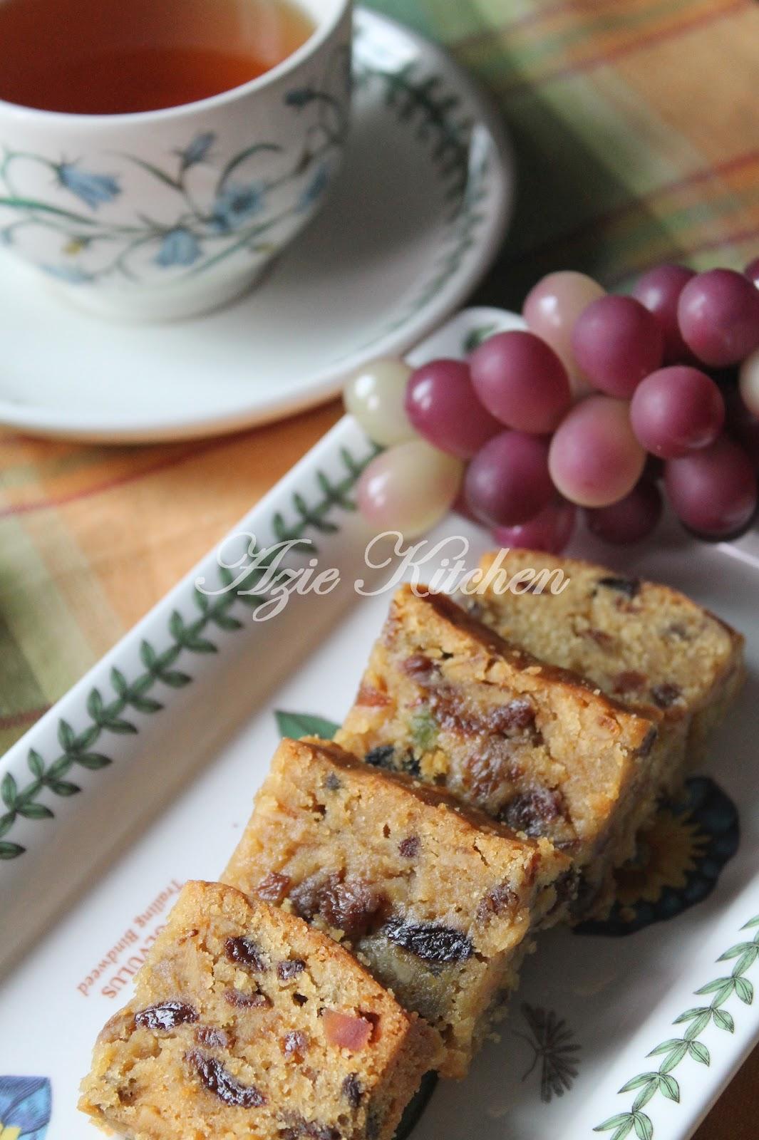 azie kitchen kek buah buahan campuran kak leen Resepi Kek Buah Pic Enak dan Mudah