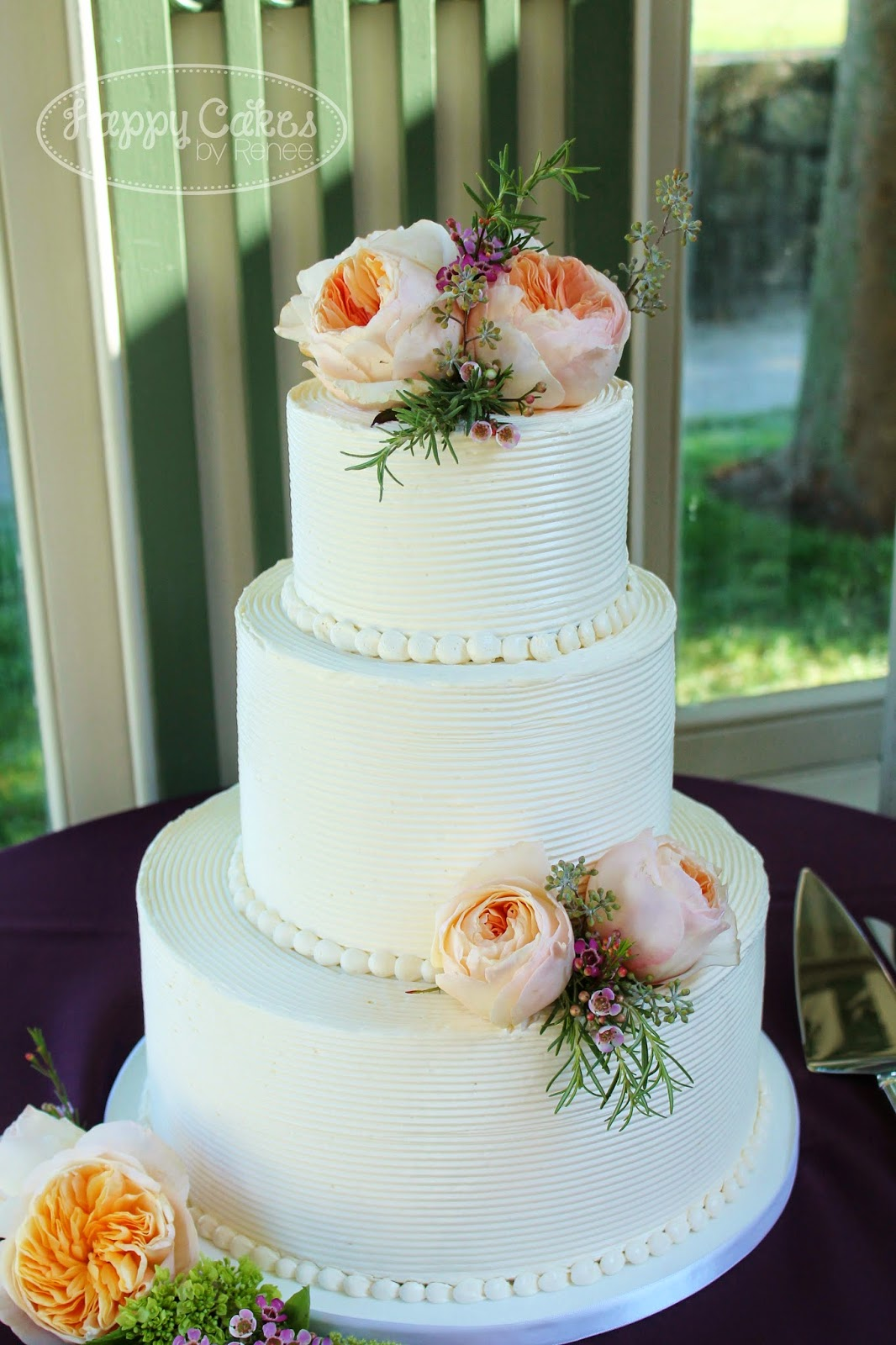 Combed Buttercream Cake - Renee Conner Cake Design